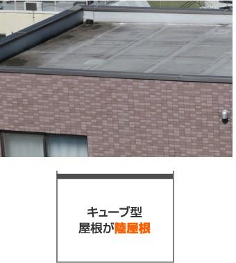 屋根が陸屋根のキューブ型住宅