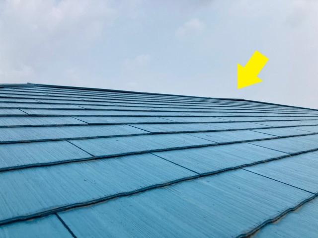 多治見市にてスレート屋根の棟板金の浮き等を無料点検しました