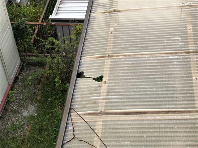 台風被害 トタン