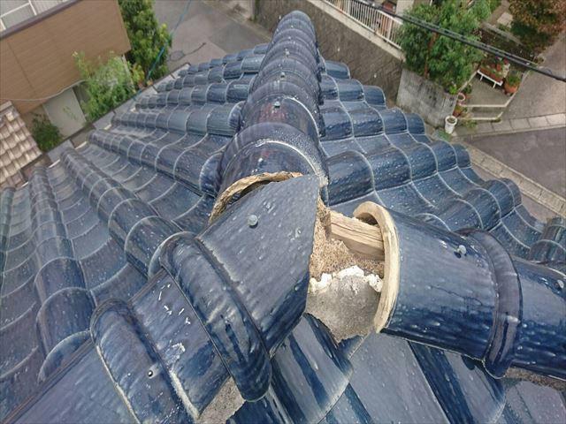 台風被害 棟瓦