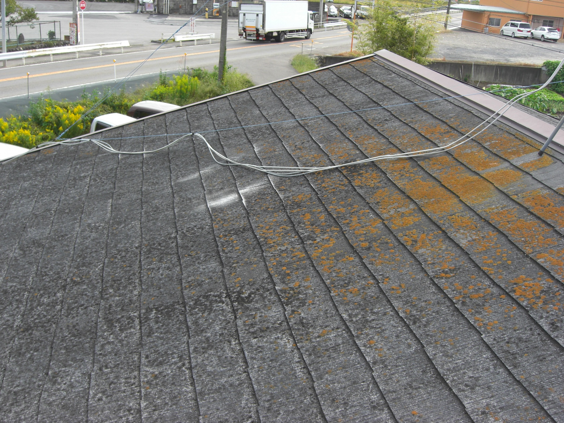 北面屋根全体