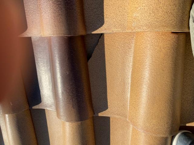 多治見市にてS字瓦の破損による雨漏りの無料点検をしてきました
