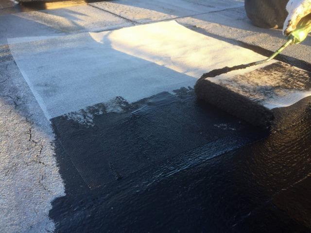 中津川市でアスファルト防水の屋上の防水工事をしました