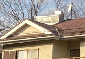電気温水器の取替と屋根塗装のお見積りの為現地調査へ行きました