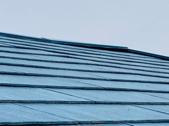 多治見市にて棟板金の浮きがあるスレート屋根の修繕をしてきました