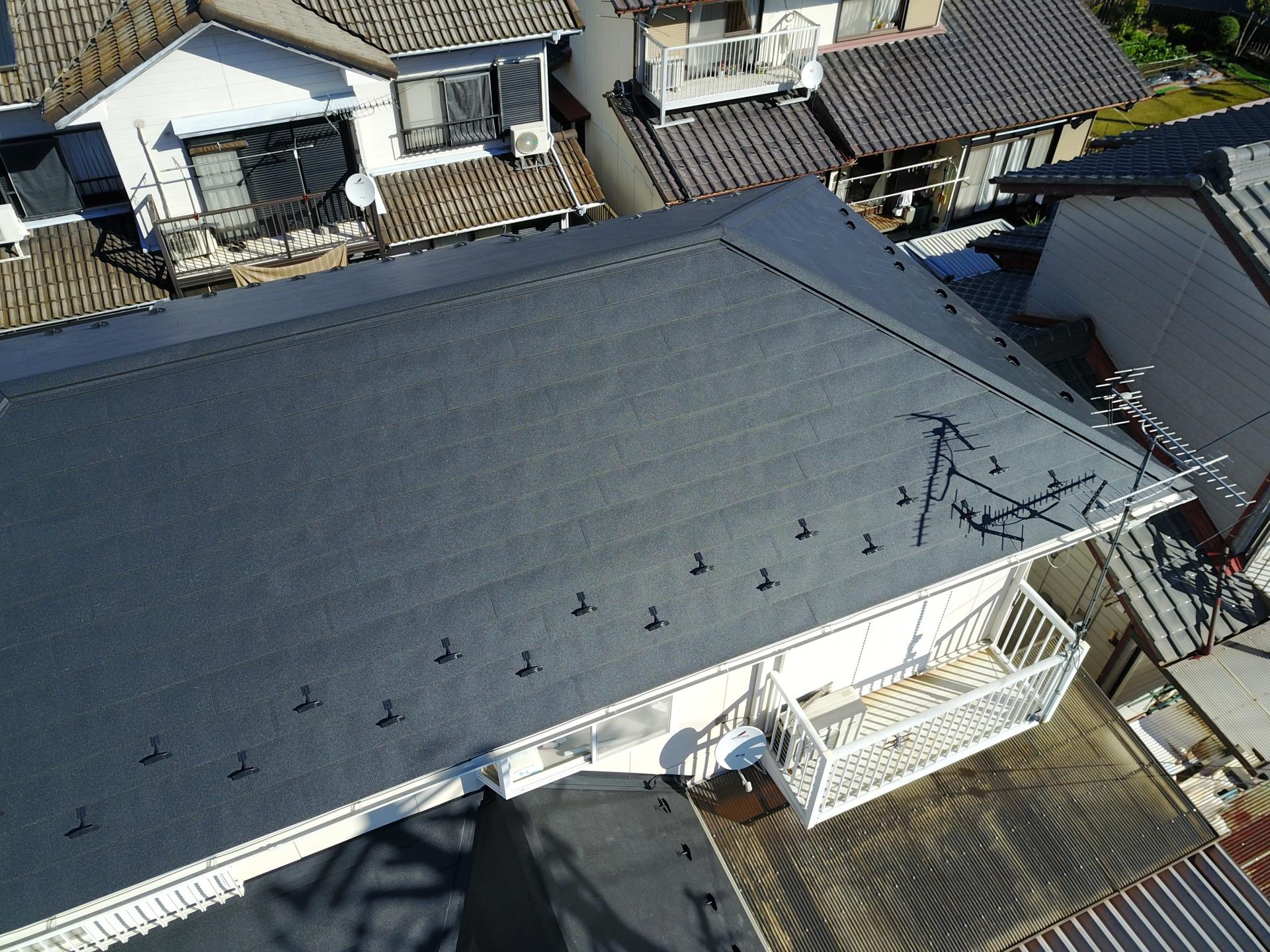 屋根ドローン