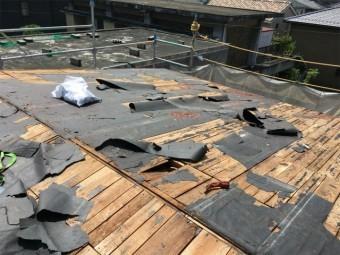 屋根剥がし後