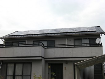 太陽光設置完了