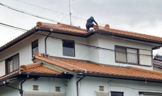 多治見市にお住まいのお客様の瓦屋根を雨漏り点検をしてきました