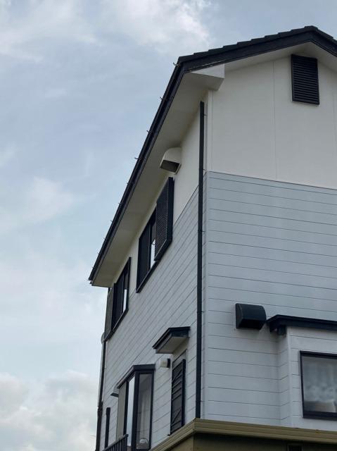 樋、集水器が破損している家